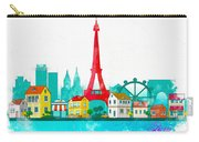 Watercolor Illustration Of Paris Carry-all Pouch