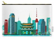 Watercolor Illustration Of Seoul Carry-all Pouch