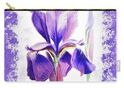 Watercolor Iris Painting Carry-all Pouch