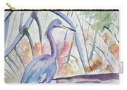 Watercolor - Little Blue Heron In Mangrove Forest Carry-all Pouch