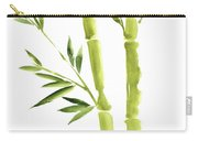Bamboo Stick Wall Paper Art, Watercolor Living Room Decor Illustration, Green Bamboo Leaves Painting Carry-all Pouch