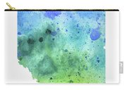 Watercolor Map Of Alberta, Canada In Blue And Green  Carry-all Pouch