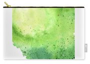 Watercolor Map Of Alberta, Canada In Green  Carry-all Pouch