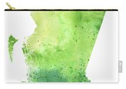Watercolor Map Of British Columbia, Canada In Green  Carry-all Pouch