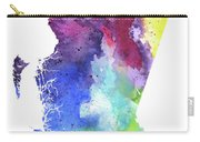 Watercolor Map Of British Columbia, Canada In Rainbow Colors  Carry-all Pouch