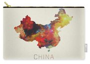 Watercolor Map Of China Carry-all Pouch