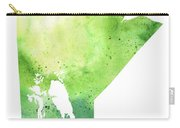 Watercolor Map Of Manitoba, Canada In Green Carry-all Pouch