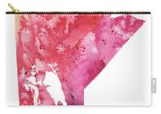 Watercolor Map Of Manitoba, Canada In Orange, Red And Purple  Carry-all Pouch