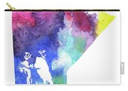 Watercolor Map Of Manitoba, Canada In Rainbow Colors  Carry-all Pouch
