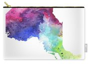 Watercolor Map Of Ontario, Canada In Rainbow Colors  Carry-all Pouch