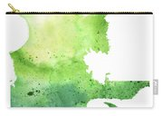 Watercolor Map Of Quebec, Canada In Green  Carry-all Pouch