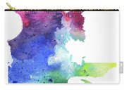 Watercolor Map Of Quebec, Canada In Rainbow Colors  Carry-all Pouch