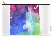 Watercolor Map Of Saskatchewan, Canada In Rainbow Colors  Carry-all Pouch