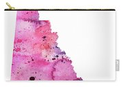 Watercolor Map Of Yukon, Canada In Pink And Purple  Carry-all Pouch