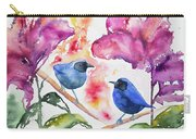Watercolor - Masked Flowerpiercers With Flowers Carry-all Pouch