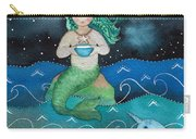 Watercolor Mermaid Feeding Her Narwhals Carry-all Pouch
