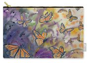 Watercolor- Monarchs In Flight Carry-all Pouch