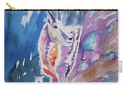Watercolor - Mountain Goat With Young Carry-all Pouch