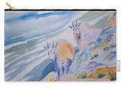 Watercolor - Mountain Goats On Quandary Carry-all Pouch