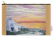 Watercolor - Mykonos Sunset Carry-all Pouch