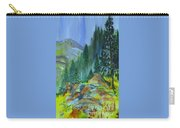 Watercolor Of Mountain Forest Carry-all Pouch