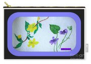 Watercolor Of Wild Flowers Carry-all Pouch