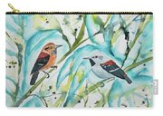 Watercolor - Ornate Antwren In The Bamboo Carry-all Pouch