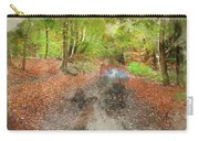 Watercolor Painting Of Beautiful Landscape Image Of Forest Covered In Autumn Fall Color Contrasting  Carry-all Pouch