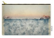 Watercolor Painting Of Beautiful Seascape Image Of Calm Ocean At Sunset Carry-all Pouch