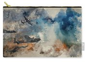 Watercolor Painting Of Flight Formation Of Battle Of Britain World War Two Consisting Of Lancaster B Carry-all Pouch