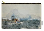 Watercolor Painting Of Pleasure Cruise Boat On Menai Straits In Anglesey Wales. Carry-all Pouch
