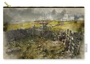 Watercolor Painting Of Public Footpath Signposts In Landscape In Carry-all Pouch