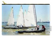 Watercolor Painting Of Small Dinghy Boats Carry-all Pouch