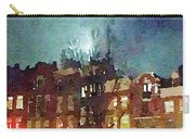 Watercolor Painting Of Spooky Houses At Night Carry-all Pouch