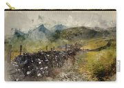 Watercolor Painting Of Stunning Landscape Of Chrome Hill And Parkhouse Hill Dragon's Back In Peak Di Carry-all Pouch