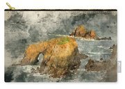 Watercolor Painting Of Stunning Sunrise Landscape Of Land's End In Cornwall England Carry-all Pouch