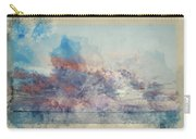 Watercolor Painting Of Stunning Sunset Cloud Formation Over Calm Sea Landscape Carry-all Pouch