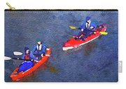 Watercolor Painting Of Two Canoes Carry-all Pouch