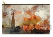 Watercolor Painting Of Winter Frosty Sunrise Landscape Salisbury Carry-all Pouch