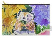 Watercolor - Pika With Wildflowers Carry-all Pouch by Cascade Colors