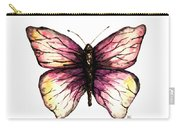 Watercolor Pink Butterfly Carry-all Pouch
