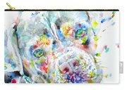 Watercolor Pit Bull.2 Carry-all Pouch
