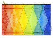 Watercolor Rainbow Pattern Geometric Shapes Triangles Carry-all Pouch