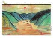 Watercolor River Scenery Carry-all Pouch