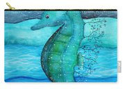 Watercolor Saehorse Carry-all Pouch