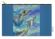 Watercolor - Sea Turtles Swimming Carry-all Pouch