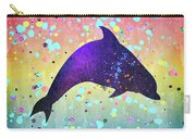 Watercolor Silhouette - Dolphin  Porpoise Carry-all Pouch