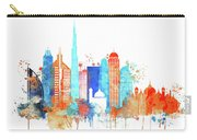 Watercolor Skyline Of Dubai Carry-all Pouch