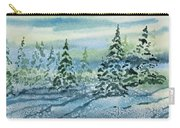 Watercolor - Snowy Winter Evening Carry-all Pouch