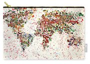 Watercolor Splashes World Map 2 Carry-all Pouch